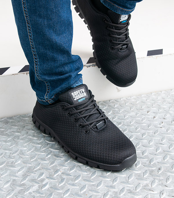 Safety Jogger Noir Steel Toe Cap Boots Taille 10